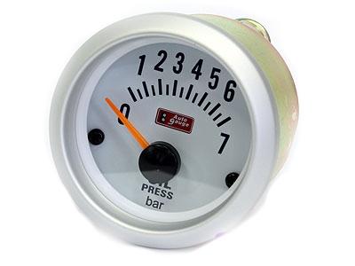 Autogauge Silver Trim 2' Oil Pressure Gauge