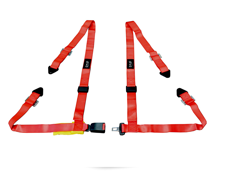 Evo Red 4point Racing Seat Harness