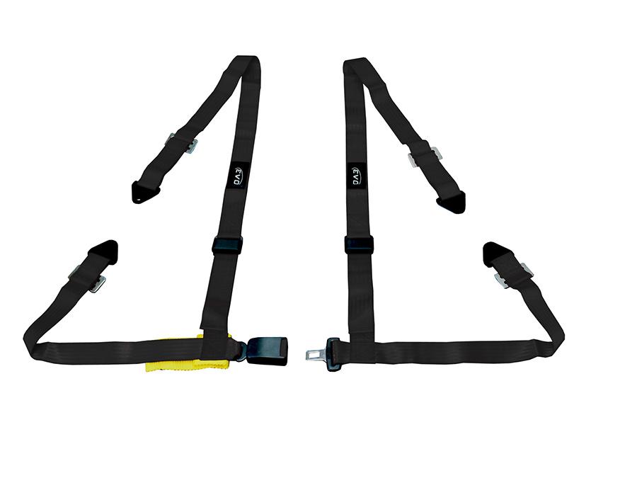 Evo Black 4point Racing Seat Harness