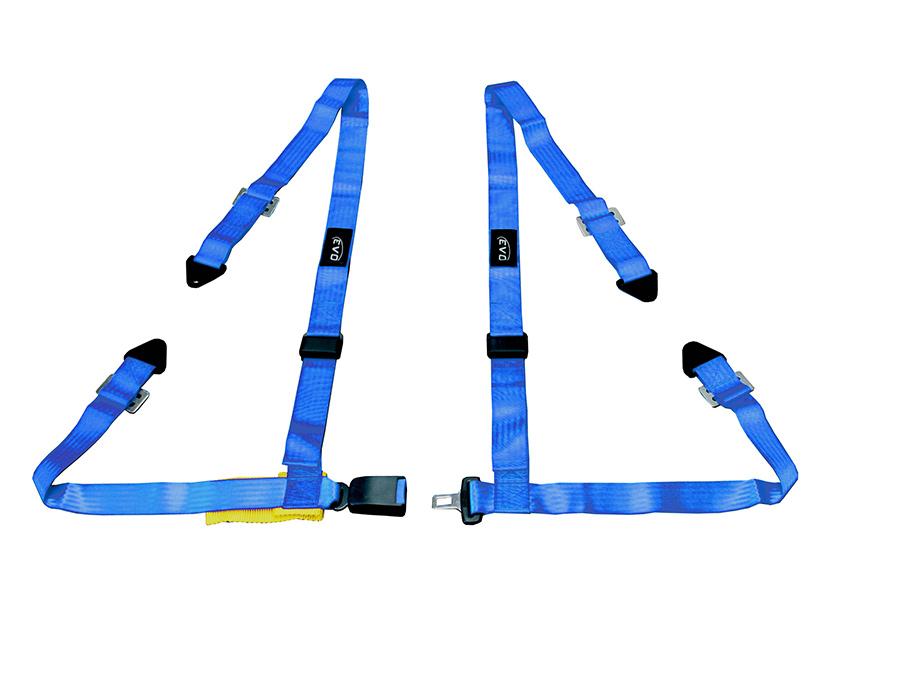 Evo Blue 4point Racing Seat Harness