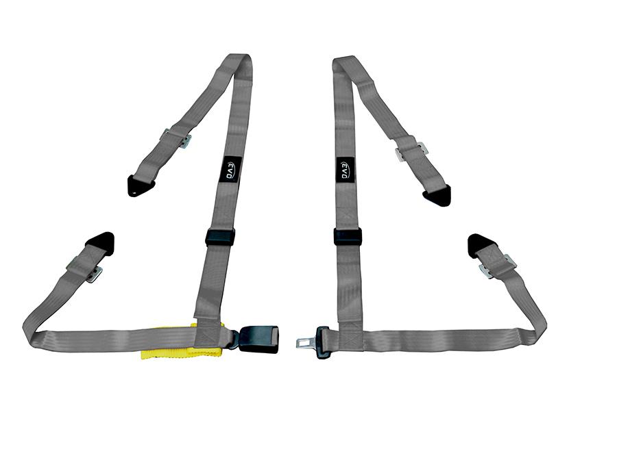 Evo Grey 4point Racing Seat Harness