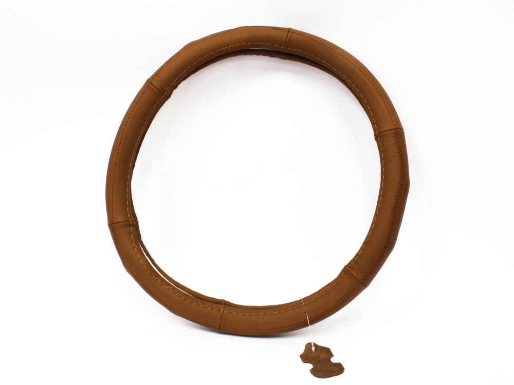 Brown Leather Finish Steering Wheel cover