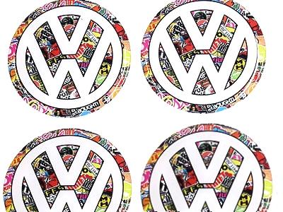 VW Stickerbomb Mag Gel Decal