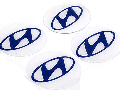Hyundai Logo Gel Dome Sticker for Wheel Center Caps-0