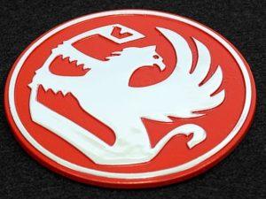 Badge Vaxhaul Red 65mm-0