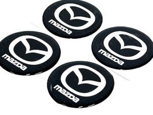 Mazda Wheel Center cap decals-0