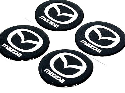Mazda Wheel Center cap decals-0