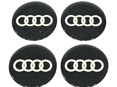 Audi Rings Black and Silver Mag Decal