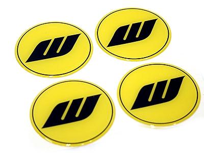 Works Yellow Design Wheel Decals