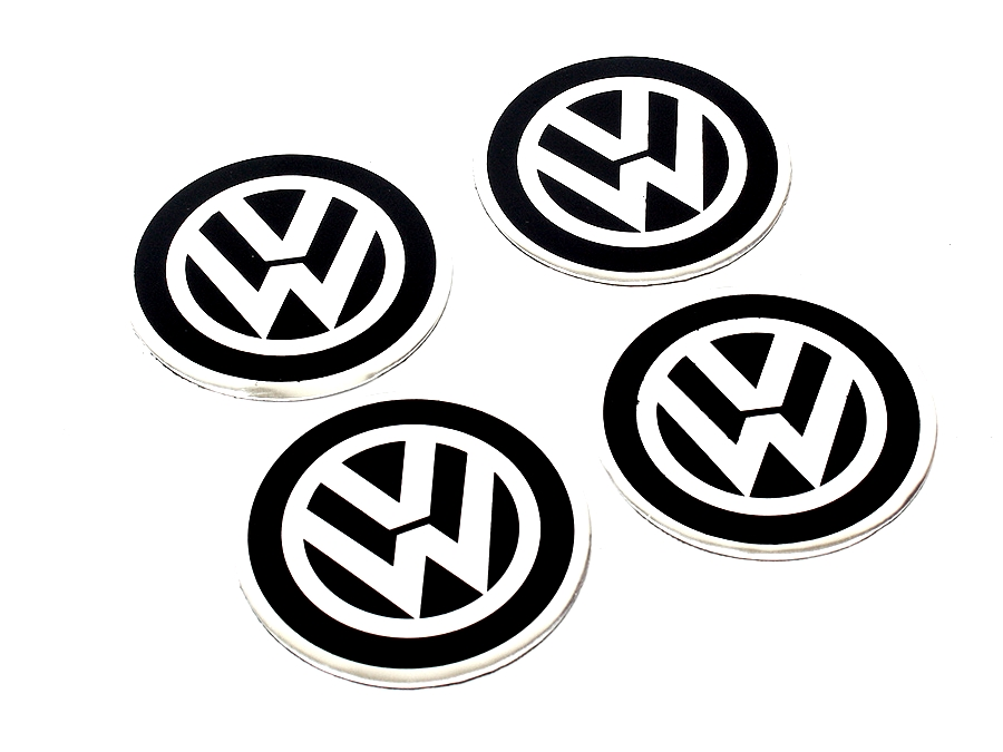 VW Black Wheel Center cap decals-0