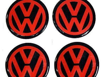 Volkswagen Neon Pink and Black Wheel Decal