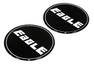 Eagle Alloy Wheel Center Cap Stickers-0