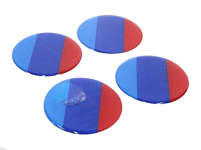 M Stripes Wheel Decal Sticker Set