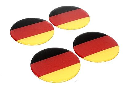 German Flag Wheel Decal Sticker Set