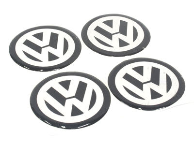 VW 50mm Wheel Decal Sticker Set