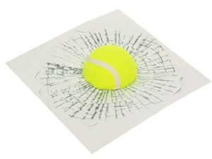 3D Tennis Ball Broken Window Sticker Set-0