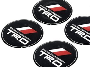 Toyota TRD wheel center cap sticker badges-0