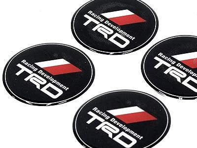 Toyota TRD wheel center cap sticker badges