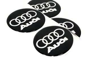 Audi 90mm Wheel Center Decals-0