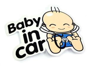 """Baby on Board"" Window Sticker-0"