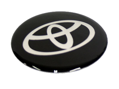 VAUXHALL OLD LOGO Domed Hub Cap Stickers BLK AND CHROME Wheel Stickers