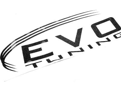 Evo Tuning Vinyl Sticker (35x15cm)
