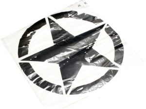Vinyl door sticker for Jeep (star round border)-0