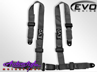 Evo Black 4point Racing Seat Harness-0