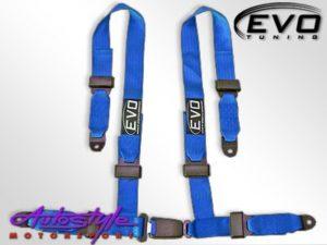Evo Blue 4point Racing Seat Harness-0