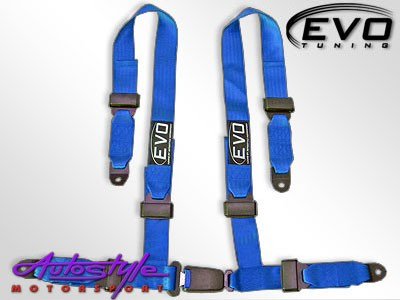 Evo Blue 4point Racing Seat Harness-0