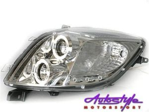 Toyota Yaris Angel Eye Headlights Chrome-0