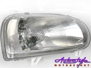 VW Golf Mk3 Single Beam Replacement Headlamp-0