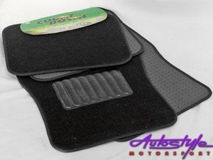 Universal Black Car Mats with Rubber Center-9340