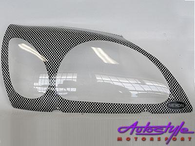 Ford Fiesta/Ikon/Bantam Carbon Headlight Shield