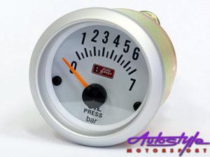 Autogauge Silver Trim 2' Oil Pressure Gauge-0