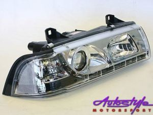 Suitable for E36 Chrome Headlightswith Driving Lig-0
