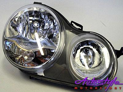 2002-2005 VW Polo Replacement Headlight RHS