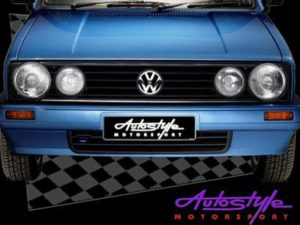 VW Golf Mk1 Double Light Grille with VW Badge