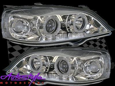 Astra G 99 to 01 Model Chrome A/eye Headlights-0