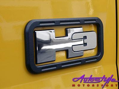 Hummer H3 Logo Surround Black
