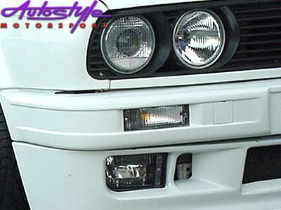 Suitable for E30 Clear Front Bumper Indicators (pair)-1857