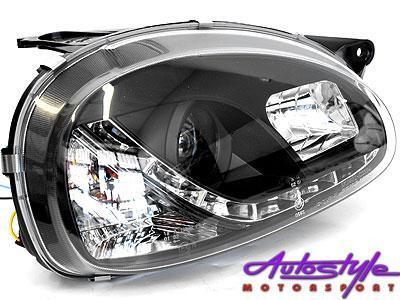Corsa 96-02 DRL SMOKE Headlights