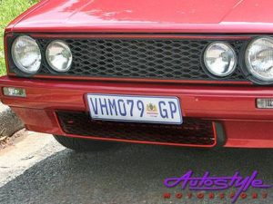 Vw Golf 1 Bumper Grille - honeycomb finish with GT-0