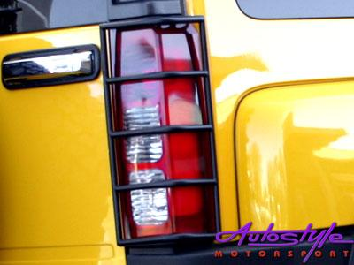 Hummer H3 STS Tail Light Guard Black-0