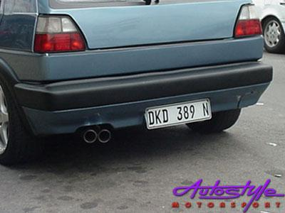 VW Golf MK2 Replacement Rear Jumbo Bumper