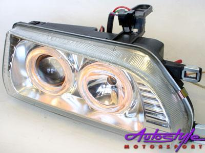 E8E9 BabycamryChrome Angel Eye Headlights