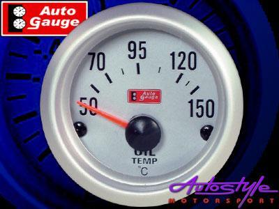 Autogauge Silver Trim 2″ Oil Temperature Gauge