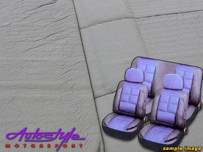 Leather Touch Padded Seat Cover Set (gray)-0