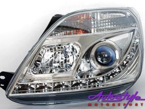 Ford Fiesta MK3 DRL Chrome Headlights-0