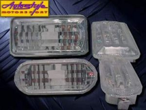 VW Golf MK3 Square Diamond Side Fender Indicators-0